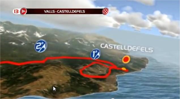 Imatge de l'etapa Valls - Castelldefels