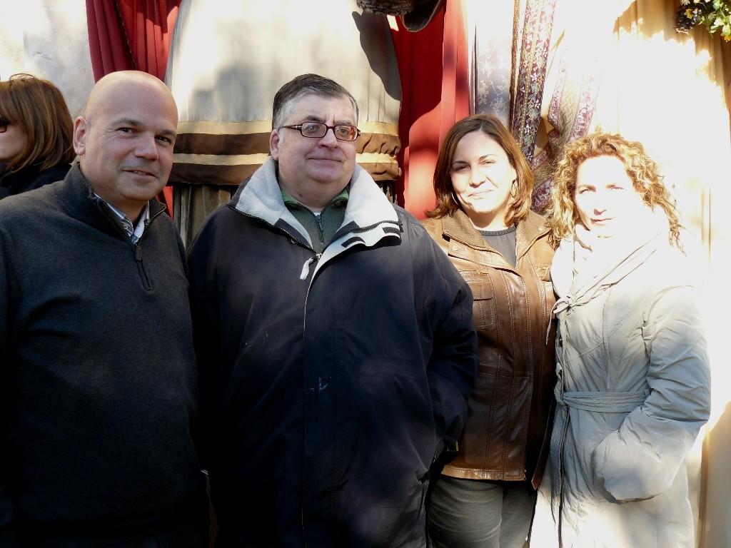 Ferran Llompart, amb altres representants del PPC a Sant Pau
